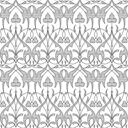 graphic pattern: Damask seamless floral pattern. Royal wallpaper.black and white background. Graphic vector pattern Illustration
