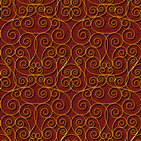 swirl: seamless floral dark red damask pattern background