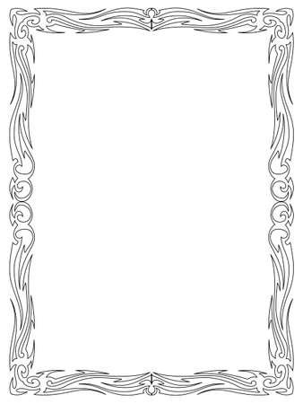 calligraphy ornamental decorative frame pattern