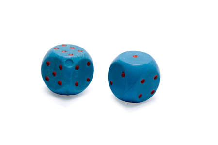 two plastic cube dice given chance in game Stock Photo - 6486275