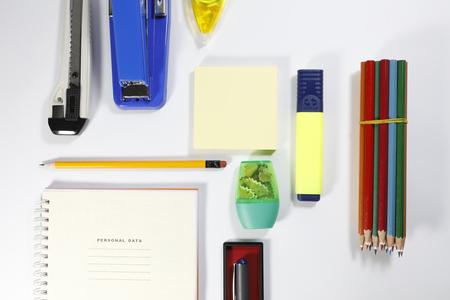 office stapler: office tool on white background