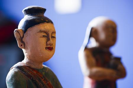 Wood statue Puppet