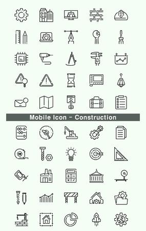 Mobile Icon - Construction Illustration