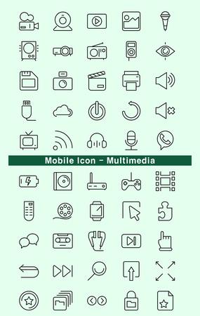 multimedia: Mobile Icon - Multimedia Illustration