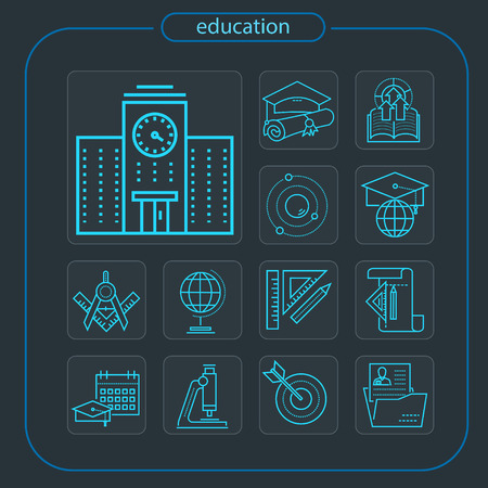 education, studying, school, student, education icon, icon, line icon, Illustration Imagens - 108413211