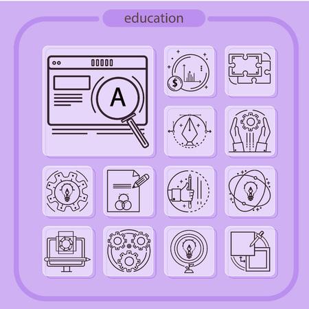 education, studying, school, student, education icon, icon, line icon, Illustration Imagens - 108413221