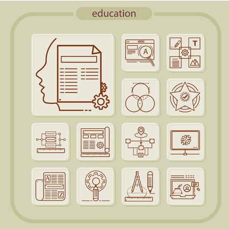education, studying, school, student, education icon, icon, line icon, Illustration Ilustração