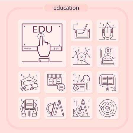 education, studying, school, student, education icon, icon, line icon, Illustration Imagens - 108413227