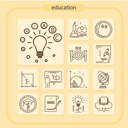 education, studying, school, student, education icon, icon, line icon, Illustration Ilustração