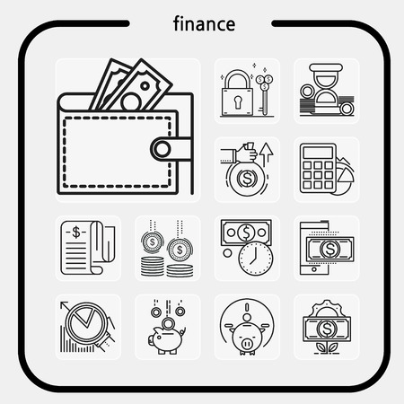 finance, mobile banking, cash, finance icon, virtual currency, beat coin, line icon, illustration