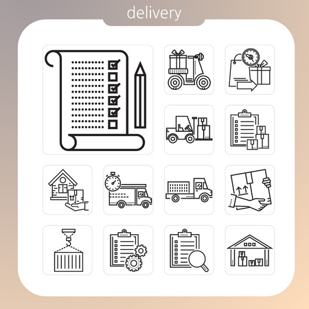delivery, shipping, icon, line icon, delivery icon, Illustration