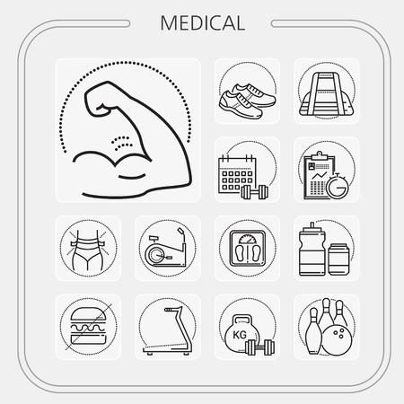 medical, hospital, medicine, doctor, nurse, mobile icon, line icon, illustration