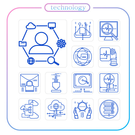 technology, industry, line Icon, illustration
