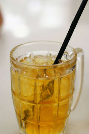 Iced chrysanthemum tea Stock Photo