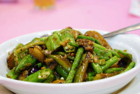 Stir-fried vegetables Stock Photo