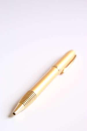 autograph: A golden ballpen
