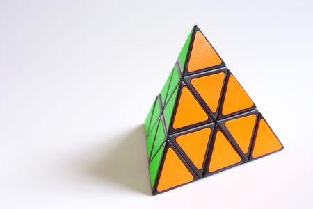 A pyramid cube