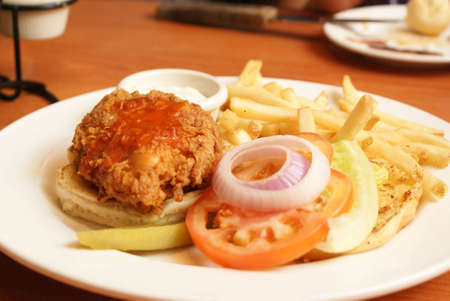 Baked Chicken fillet with fries