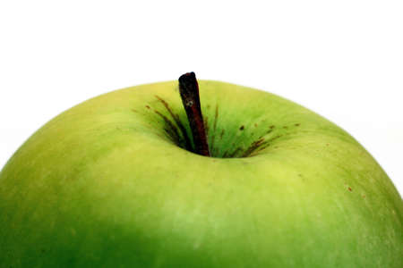 Green Apple Close up Stock Photo