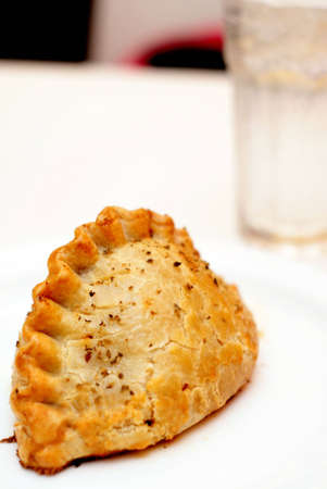 Large Curry Puff dessert Stock Photo