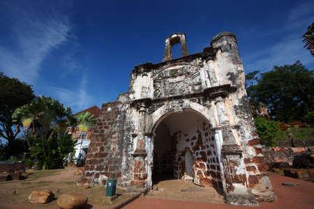 Historical A Famosa Fortress Malacca Malaysia Stock Photo