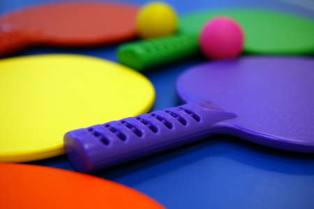 Colourful Table Tennis Racket and ball