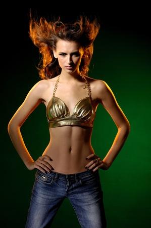 Fashion beautiful dancing sexy model