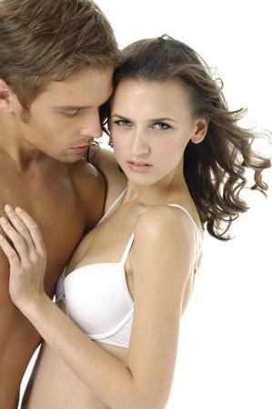 pareja apasionada: Sexy modelo de pareja Foto de archivo