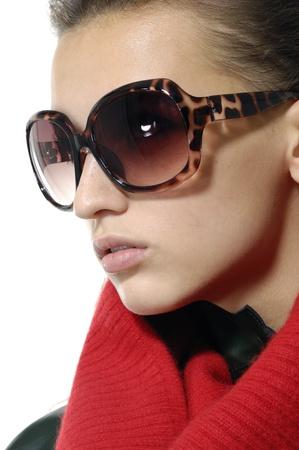 fashion model wearing the big modern sunglasses. Stock Photo - 11120649