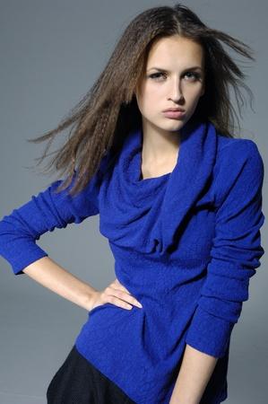 Dynamic image of a beautiful woman shot in studio Stock Photo
