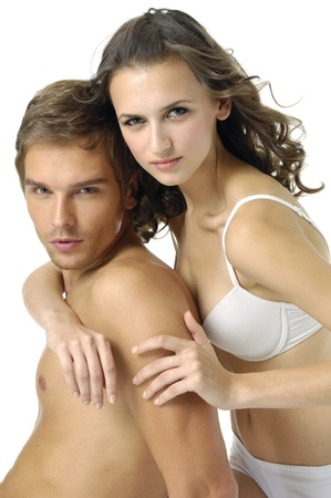 sexy Couple against white