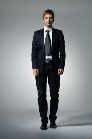 fashion businessman on light background