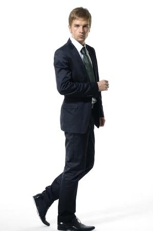 Elegant young handsome man photo