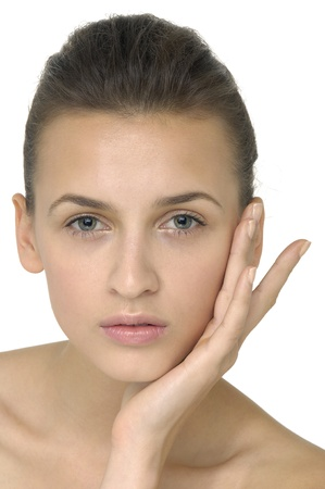 Beautiful girl with health skin of face Stock Photo - 11232865
