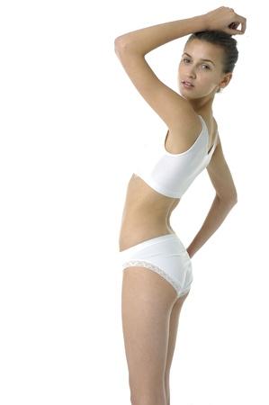 Beautiful underwear model posing