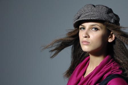 Close up Portrait of fashion model Stock Photo