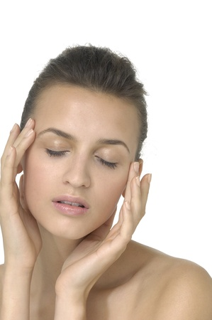 Fashion woman with health skin of face