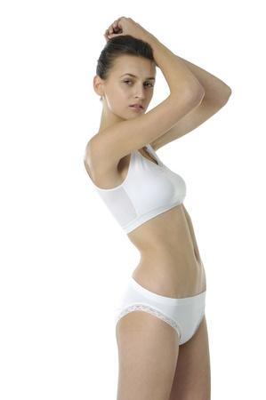 jungen unterwäsche: Schöne Unterwäsche Model posiert