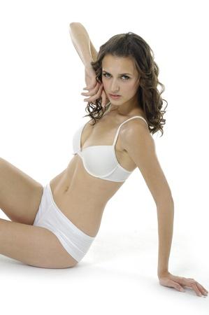 Beautiful underwear model posing  photo