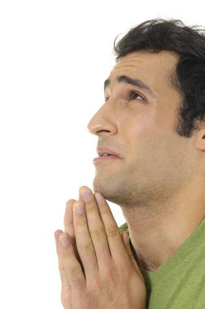 praying man face