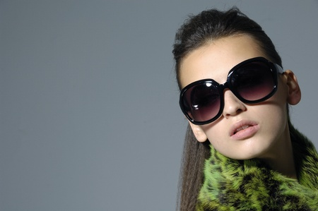 Sunglasses fashion woman border photo