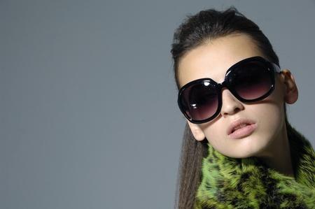 Sunglasses fashion woman border Stock Photo