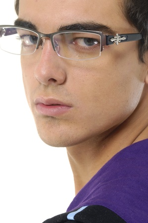 Close up of a fashionable male model photo