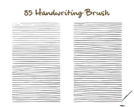 Set of 85 handwriting art brush + editable raw vector to create your own modification art strokes. Created using AI CS6. Illusztráció