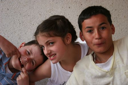 chłopięctwo: Troje dzieci Zdjęcie Seryjne