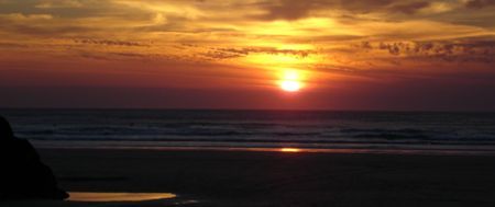 mixture: Sunset Sky Stock Photo