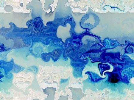 unevenly: Blue Design