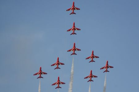 Red Arrows Formation photo