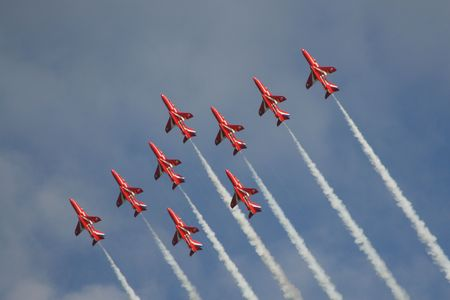 Nine Red Arrows photo