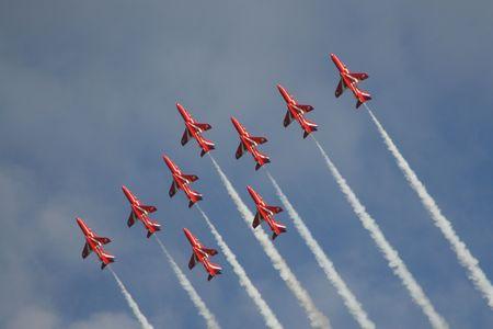 Nine Red Arrows